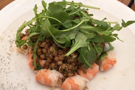 Salade de Lentilles et Crevettes