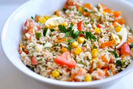 recette salade de riz thon ufs menu by menu. Black Bedroom Furniture Sets. Home Design Ideas