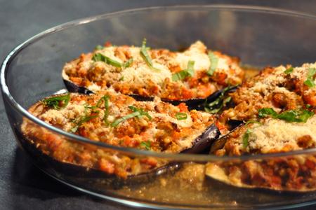 Recette aubergines pecorino au four menu by menu - Recette avec aubergine grillee ...