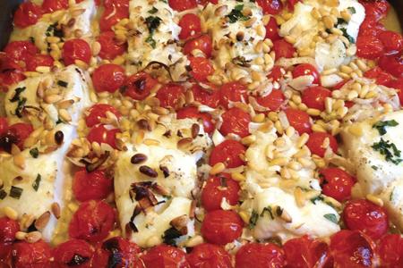 Cabillaud Tomates et Pignons