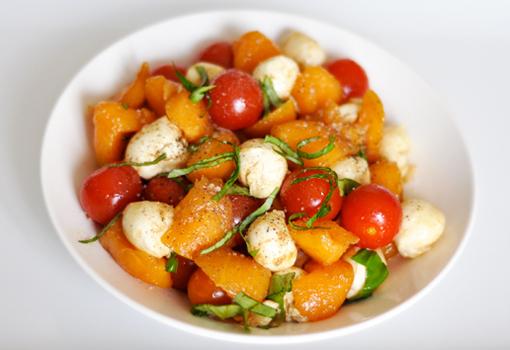 Salade Melon, Mozzarella Tomate