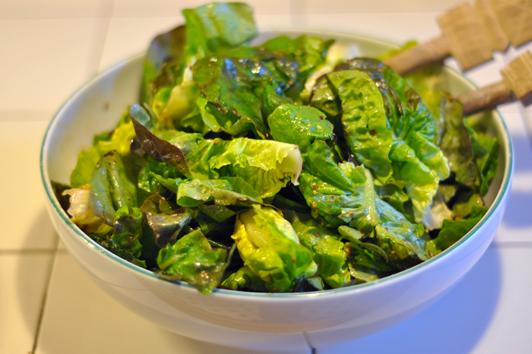 Recette salade verte vinaigrette menu by menu - Salade verte calorie ...