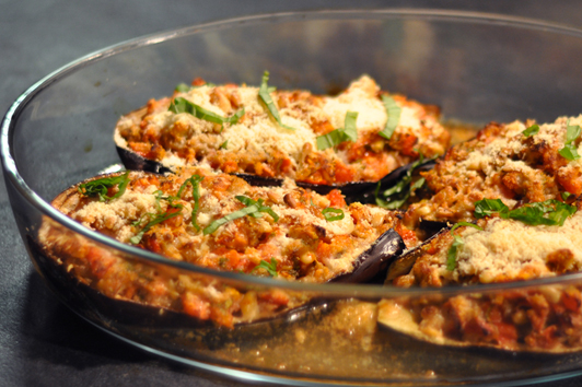 Recette aubergines pecorino au four menu by menu for Idee de diner original