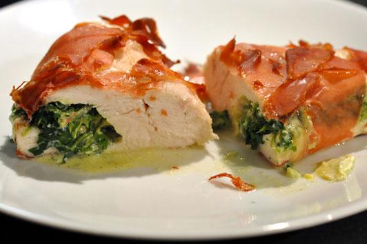 Recette blancs de poulet farcis menu by menu - Comment cuisiner des blancs de poulet ...