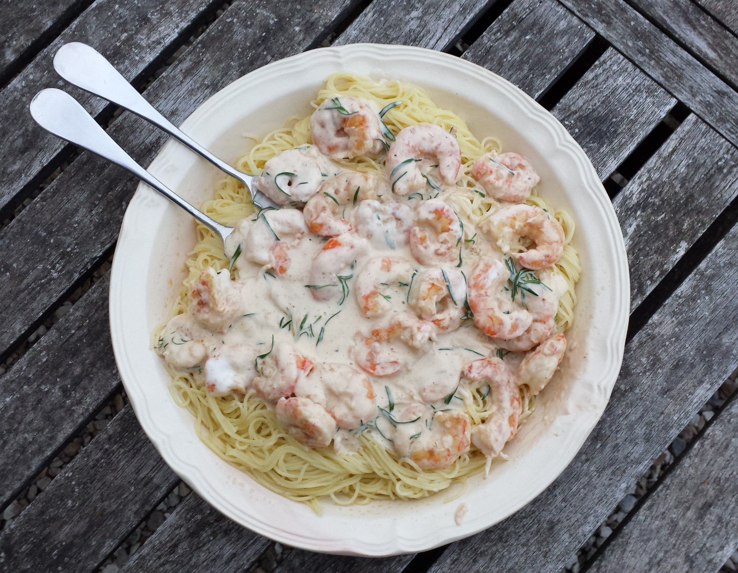 recette p 226 tes aux crevettes estragon et pastis de chantal menu by menu