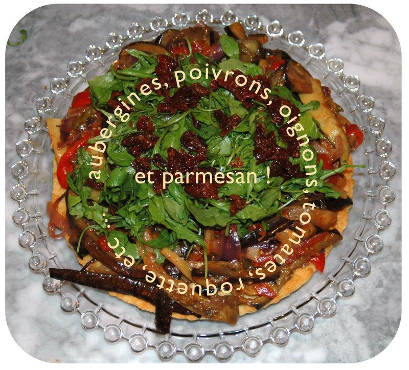 Recette tarte au parmesan et l gumes grill s menu by menu - Recette legumes grilles au four ...