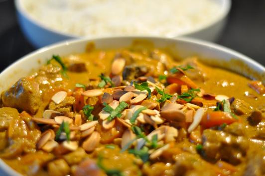 recette curry de porc aux carottes avec du riz menu by menu. Black Bedroom Furniture Sets. Home Design Ideas